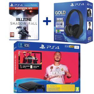 CONSOLE PS4 Console PS4 Slim 1To Noire + FIFA 20 + Killzone Sh