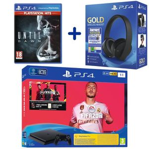CONSOLE PS4 Console PS4 Slim 1To Noire + FIFA 20 + Until Dawn