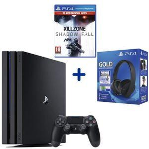 CONSOLE PS4 Console PS4 Pro 1To Noire + Killzone Shadow Fall P