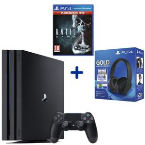 CONSOLE PS4 Console PS4 Pro 1To Noire + Until Dawn PSHits + Ca