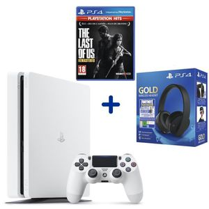 CONSOLE PS4 Console PS4 Slim 500Go Blanche + The Last of Us Re