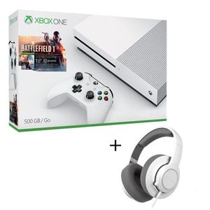 CONSOLE XBOX ONE NOUV. Pack Xbox One S 500Go + Battlefield 1 + Casque Gam