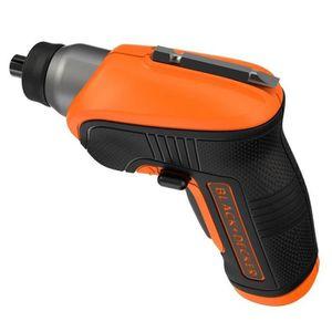 Orange//Noir 3.6V Sans accessoires BLACK+DECKER CS3652LC-QW Tournevis sans fil