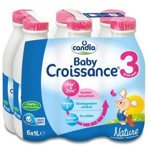 LAIT BÉBÉ CANDIA Baby Croissance Lait 3ème âge - 6 x 1L - De