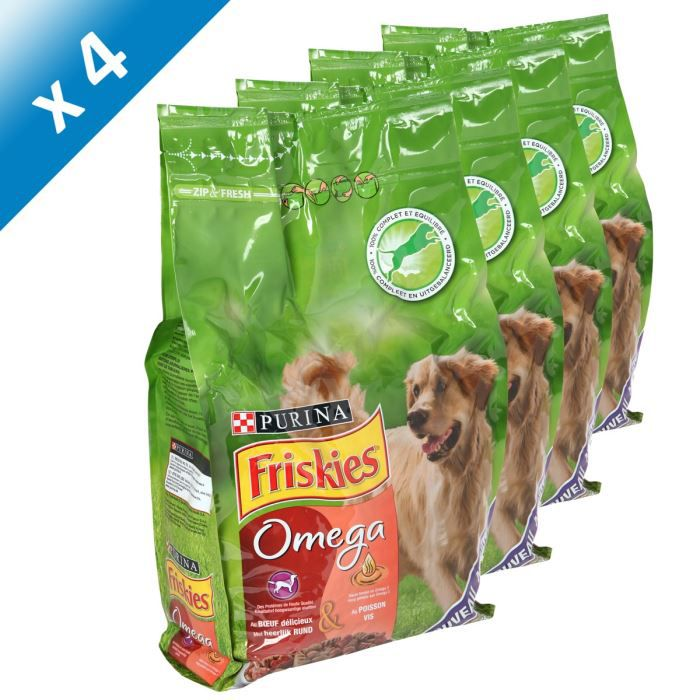 friskies chien omega b uf promo 3kg x4 achat vente croquettes pcb4 fri chien b uf pois 3kg. Black Bedroom Furniture Sets. Home Design Ideas