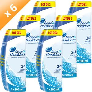 SHAMPOING HEAD&SHOULDERS Shampoing Classic 2x300ml (x6)
