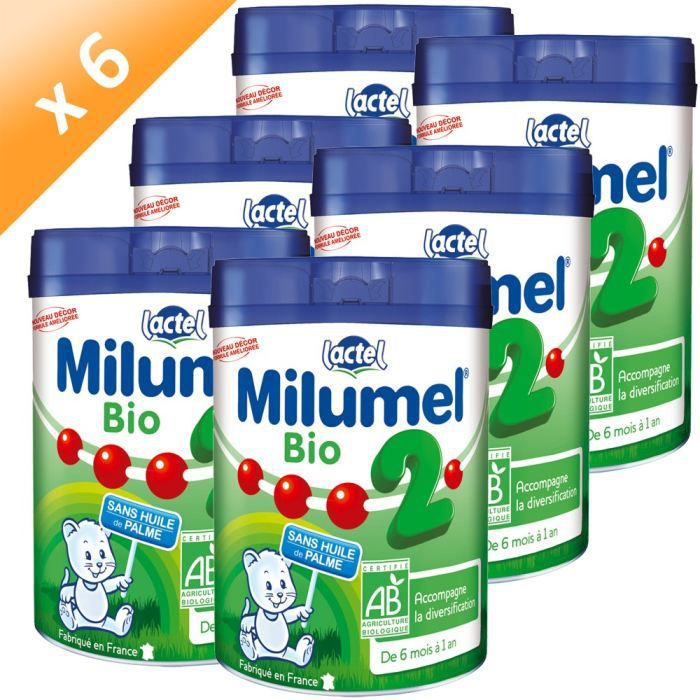 milumel bio 2 me age lait en poudre 6x900g achat vente lait b b milumel bio 2 me age lait. Black Bedroom Furniture Sets. Home Design Ideas