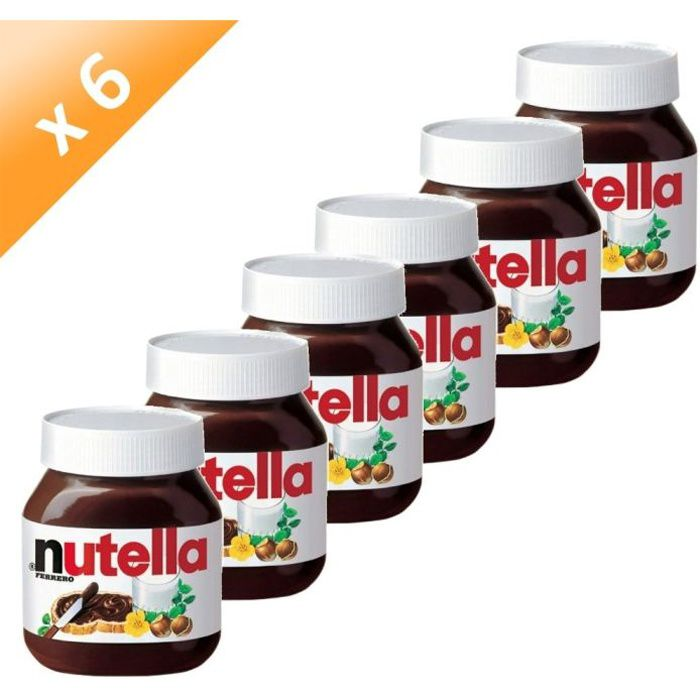 ferrero nutella pot de 750g x6 achat vente p te tartiner pcb6 ferrero nutella 750g. Black Bedroom Furniture Sets. Home Design Ideas