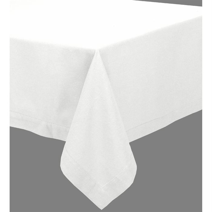couleurs sud yuco nappe blanche 150x250cm achat vente nappe de table cdiscount. Black Bedroom Furniture Sets. Home Design Ideas