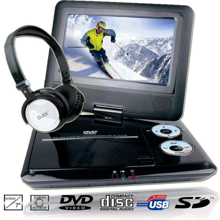 d jix pvs705 79hb lecteur dvd portable casque achat vente lecteur dvd portable d jix. Black Bedroom Furniture Sets. Home Design Ideas