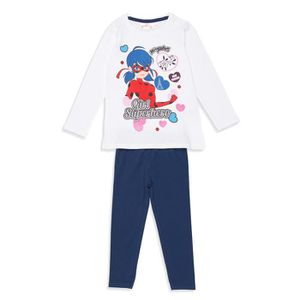 PYJAMA MIRACULOUS LADY BUG Pyjama Blanc et Bleu Marine En