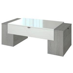 TABLE BASSE LUCKY Table basse style contemporain décor chêne c