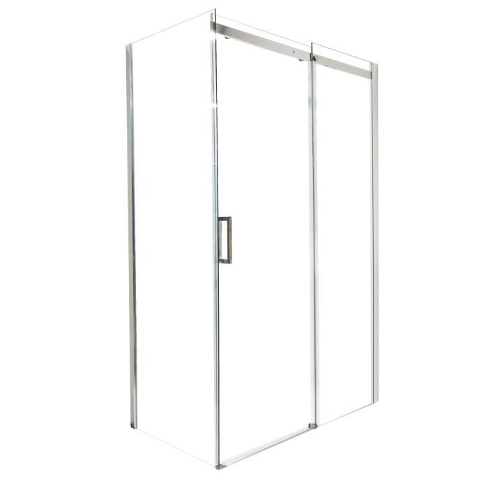 aqua porte de douche coulissante 8 mm simi 120 cm chrom e achat vente porte de douche porte. Black Bedroom Furniture Sets. Home Design Ideas