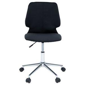 CHAISE DE BUREAU ARO Chaise de bureau - Tissu noir et blanc - Conte