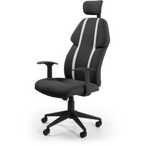 CHAISE DE BUREAU BUZZ Chaise de bureau - Simili et tissu noir - Sty