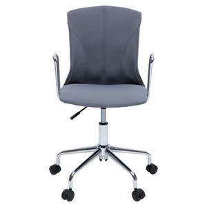 CHAISE DE BUREAU DERA Chaise de bureau - Tissu gris - Contemporain