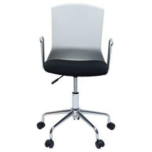 CHAISE DE BUREAU DIANA Chaise de bureau - Tissu noir et blanc - Con
