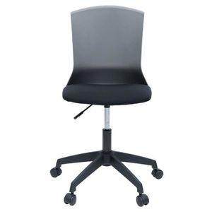 CHAISE DE BUREAU HERY Chaise de bureau - Tissu noir et gris - Conte