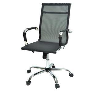 CHAISE DE BUREAU LAW Chaise de bureau - Tissu noir - Style contempo