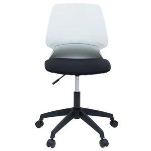 CHAISE DE BUREAU MIALY Chaise de bureau - Tissu noir et blanc - Con