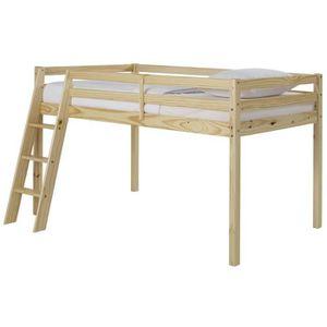 LIT MEZZANINE OUNA Lit mezzanine enfant contemporain en bois pin