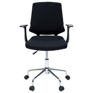 CHAISE DE BUREAU SENTO Chaise de bureau - Tissu noir - Contemporain