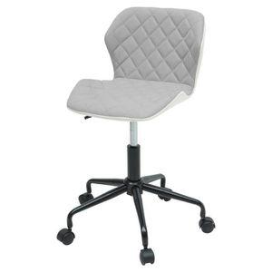 CHAISE DE BUREAU SQUATE Chaise de bureau - Tissu et simili gris cla