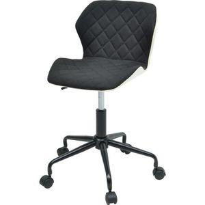 CHAISE DE BUREAU SQUATE Chaise de bureau - Tissu et simili noir - S