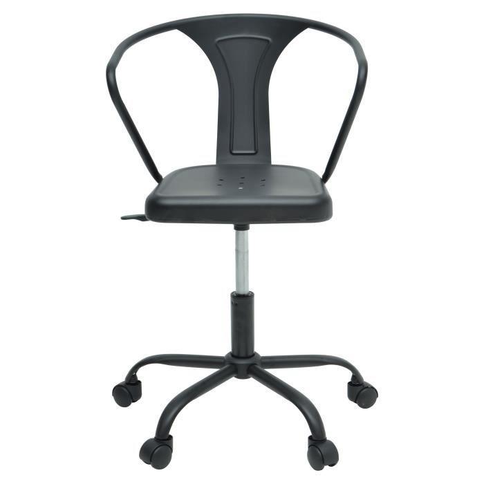 CHAISE DE BUREAU COMETE Chaise de bureau - Métal noir mat - Industr