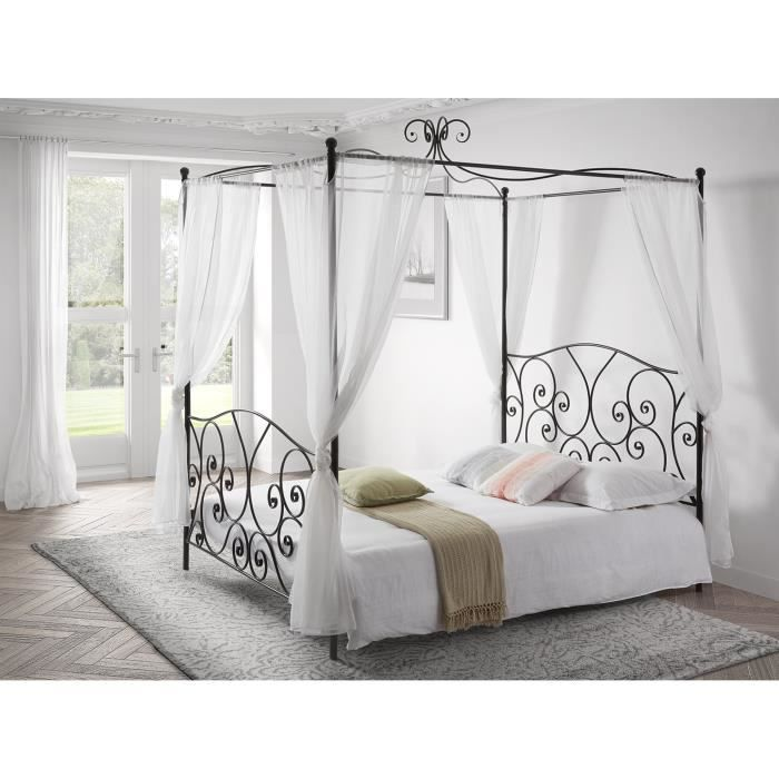 lit baldaquin achat vente lit baldaquin pas cher. Black Bedroom Furniture Sets. Home Design Ideas