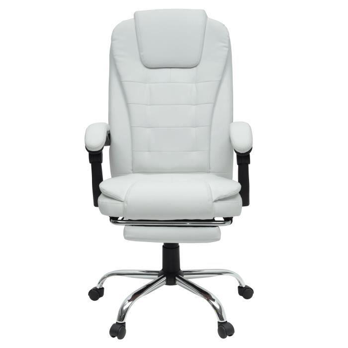de Style L blanc MACK bureau Simili industriel Chaise tdxBorhQsC
