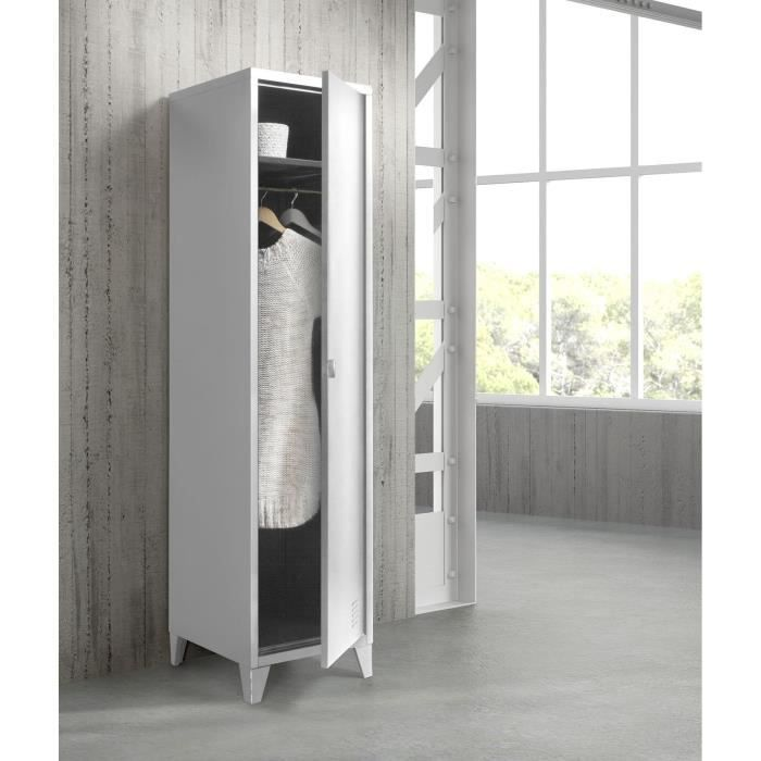 armoire vestiaire metallique 1 porte table de lit a. Black Bedroom Furniture Sets. Home Design Ideas