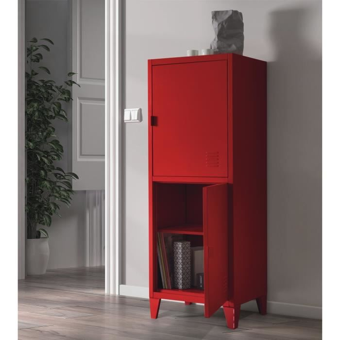 armoire metallique rouge. Black Bedroom Furniture Sets. Home Design Ideas