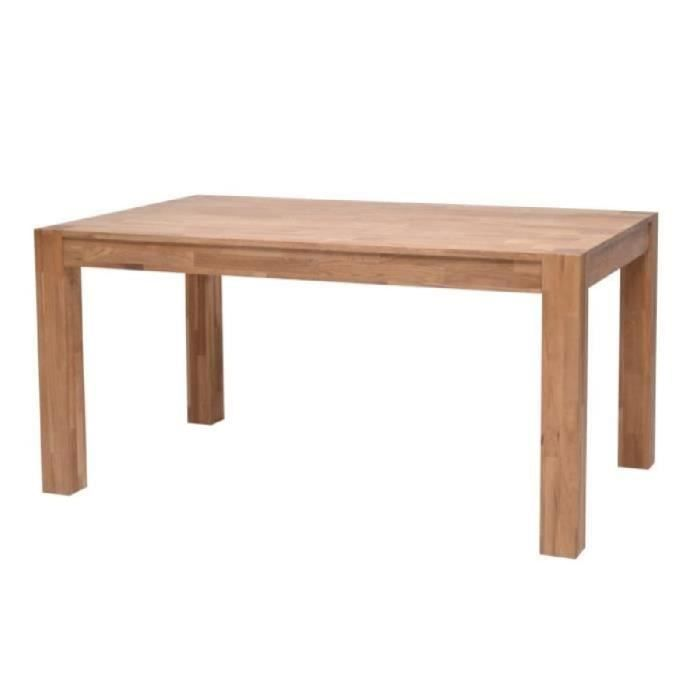 Miles table en ch ne massif 6 personnes 150x90 cm achat for Table carree 150 x 150