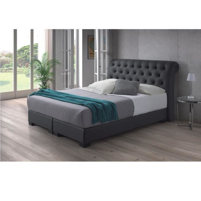 molly lit matelas boxspring 140x200 cm gris achat vente ensemble literie molly lit. Black Bedroom Furniture Sets. Home Design Ideas