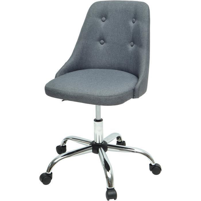 et Chaise gris tissu Style SIGMA de bureau Simili bY76gfyv