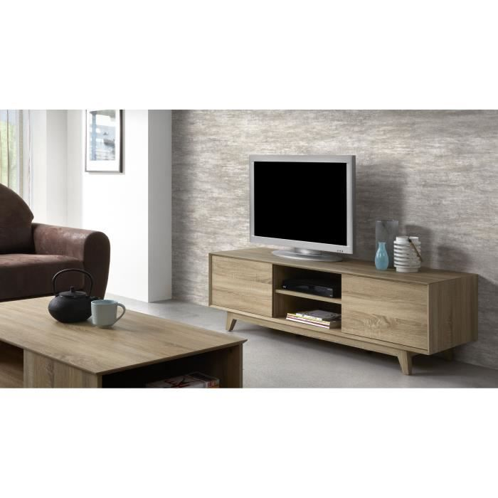 sonoma meuble tv 150 cm coloris ch ne clair achat. Black Bedroom Furniture Sets. Home Design Ideas