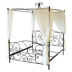 lit a baldaquin 160x200 achat vente lit a baldaquin. Black Bedroom Furniture Sets. Home Design Ideas