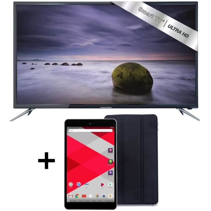 tv uhd 4k smart android 122cm 48 tablette cdisplay 8 32go cover cdisplay pack tv led. Black Bedroom Furniture Sets. Home Design Ideas
