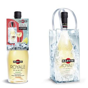 Punch-Cocktail préparé Martini royale Blanc 75cl + Ice Bag