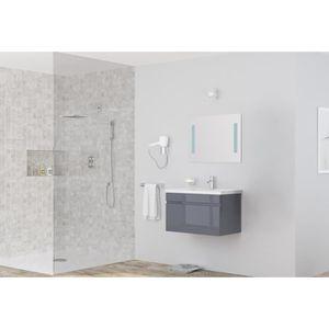 MEUBLE VASQUE - PLAN ALBAN salle de bain simple vasque avec miroir L 80