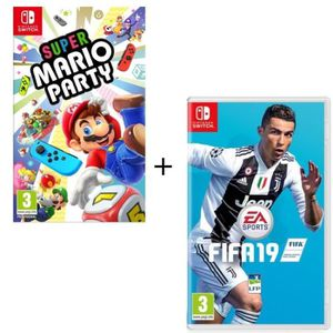 JEU NINTENDO SWITCH Pack  2 jeux Switch : Super Mario Party + FIFA 19