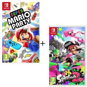 JEU NINTENDO SWITCH Pack  2 jeux Switch : Super Mario Party + Splatoon