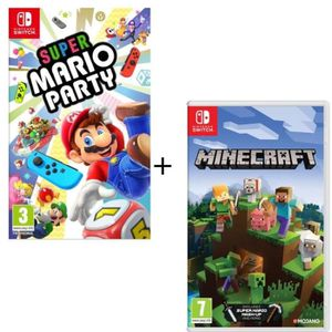 JEU NINTENDO SWITCH Pack  2 jeux Switch : Super Mario Party + Minecraf