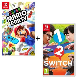 JEU NINTENDO SWITCH Pack  2 jeux Switch : Super Mario Party + 1-2-Swit