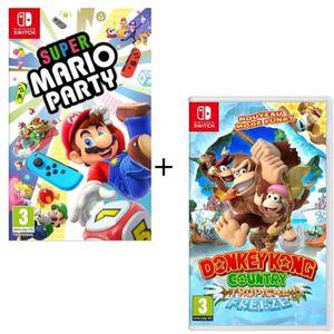JEU NINTENDO SWITCH Pack  2 jeux Switch : Super Mario Party + Donkey K