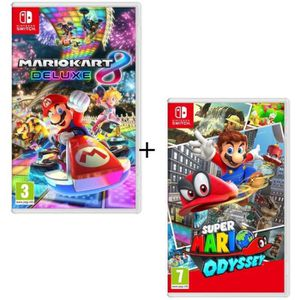 JEU NINTENDO SWITCH Pack 2 jeux Switch : Mario Kart 8 Deluxe + Super M