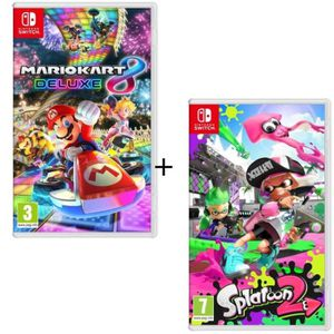 JEU NINTENDO SWITCH Pack 2 jeux Switch : Mario Kart 8 Deluxe + Splatoo