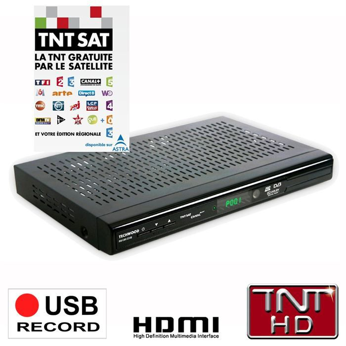 rs 685 chb tnt sat hd pvr achat vente r cepteur d codeur techwood rs 685 chb pas cher. Black Bedroom Furniture Sets. Home Design Ideas