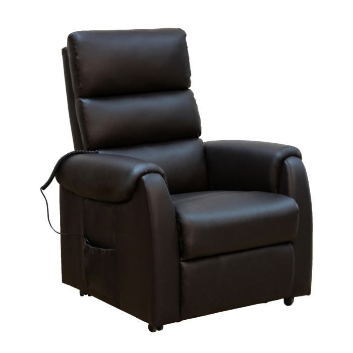 climb fauteuil de relaxation en simili marron. Black Bedroom Furniture Sets. Home Design Ideas